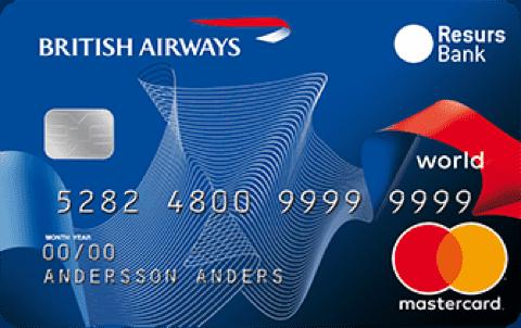 Jämför Kreditkort British Airways Classic