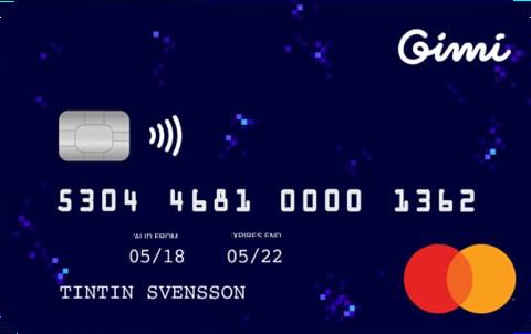 Bästa betalkortet för barn Gimi-kortet