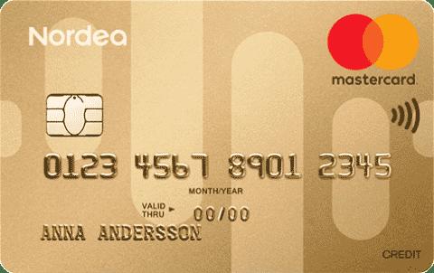 Guld kreditkort Nordea bank