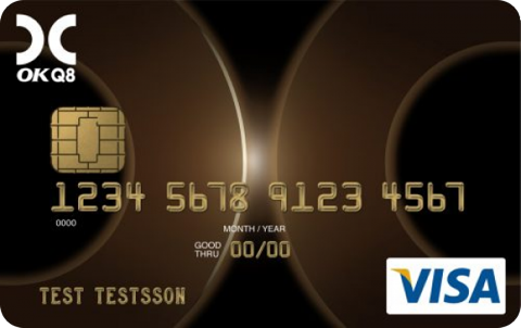 Tankkort Kreditkort OKQ8 Visa