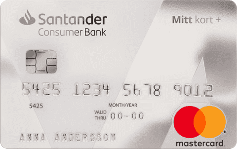 Kreditkort Santander Mitt Kort Plus