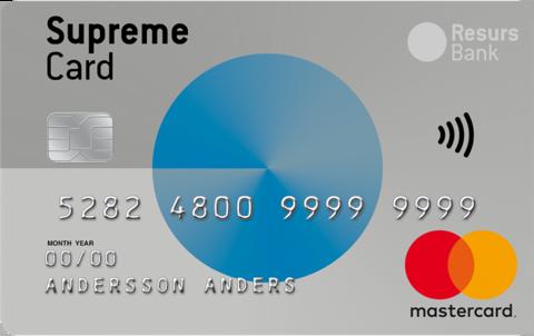 Supreme Kreditkort Gratis