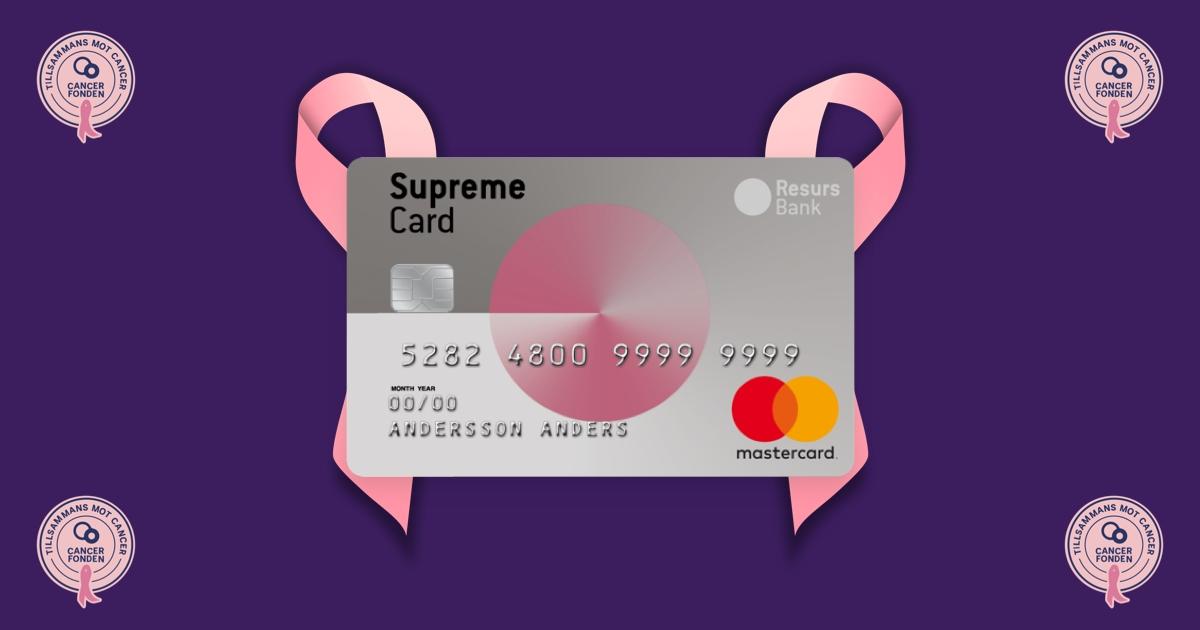 Cancerfonden kreditkort Supreme Woman